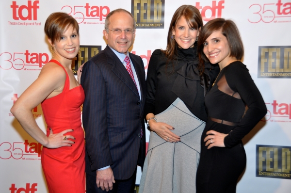 Nicole Feld, Alana Feld and Juliette Feld with their father Kenneth Feld