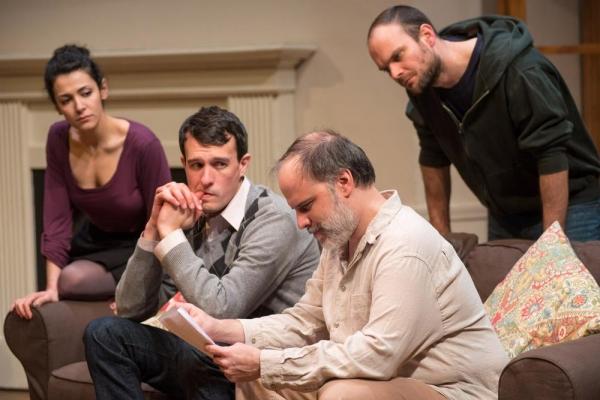 Carl Lindberg (Douglas) and Tom Hickey (Leonard), Atra Asdou (Izzy) and Keith Neagle (Martin)