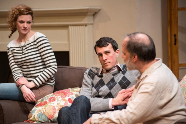 Mary Williamson (Kate), Carl Lindberg (Douglas) and Tom Hickey (Leonard)