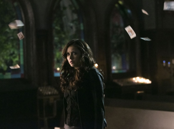 The Vampire Diaries -- ''Gone Girl'' -- Image Number: VD515b_0676.jpg -- Pictured: Nina Dobrev as Katherine -- Photo: Tina Rowden/The CW -- � 2014 The CW Network, LLC. All rights reserved