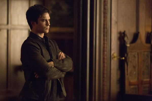 The Vampire Diaries -- ''Gone Girl'' -- Image Number: VD515a_0083.jpg -- Pictured: Ian Somerhalder as Damon -- Photo: Blake Tyers/The CW -- © 2014 The CW Network, LLC. All rights reserved
