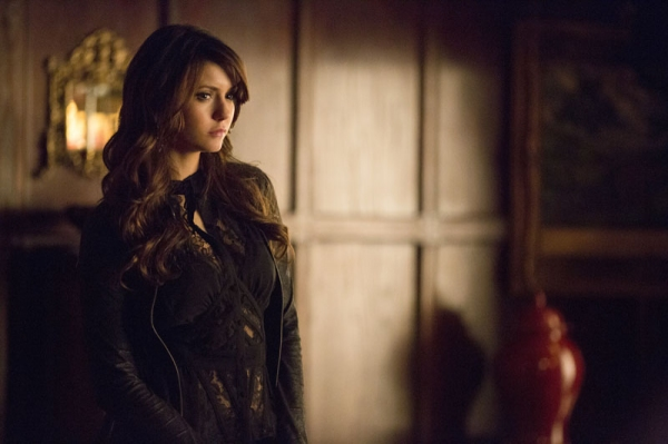 The Vampire Diaries -- ''Gone Girl'' -- Image Number: VD515a_0096.jpg -- Pictured: Nina Dobrev as Katherine -- Photo: Blake Tyers/The CW -- © 2014 The CW Network, LLC. All rights reserved