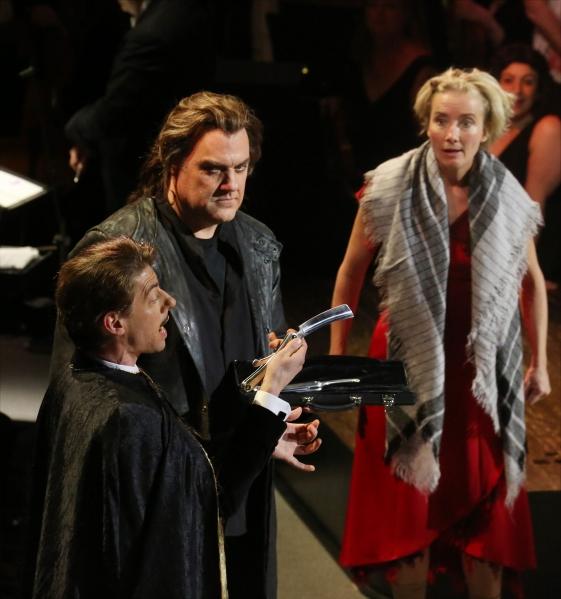Christian Borle, Bryn Terfel, Emma Thompson and cast