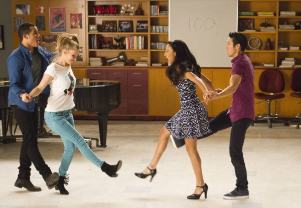 Jacob Artist, Heather Morris, Naya Rivera, Harry Shum Jr. Photo