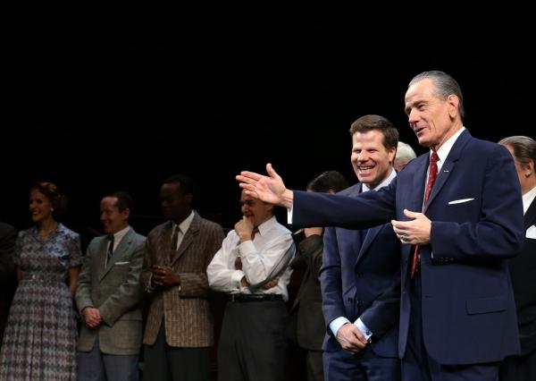 Director Bill Rauch, Robert Petkoff, John McMartin, Michael McKean, Bryan Cranston Playwright Robert Schenkkan and cast