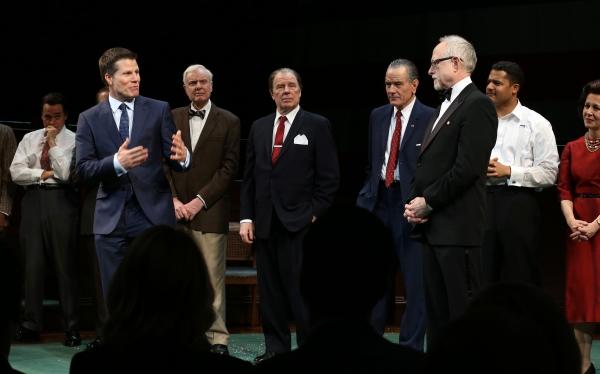 Director Bill Rauch, John McMartin, Michael McKean, Bryan Cranston Playwright Robert Schenkkan and cast