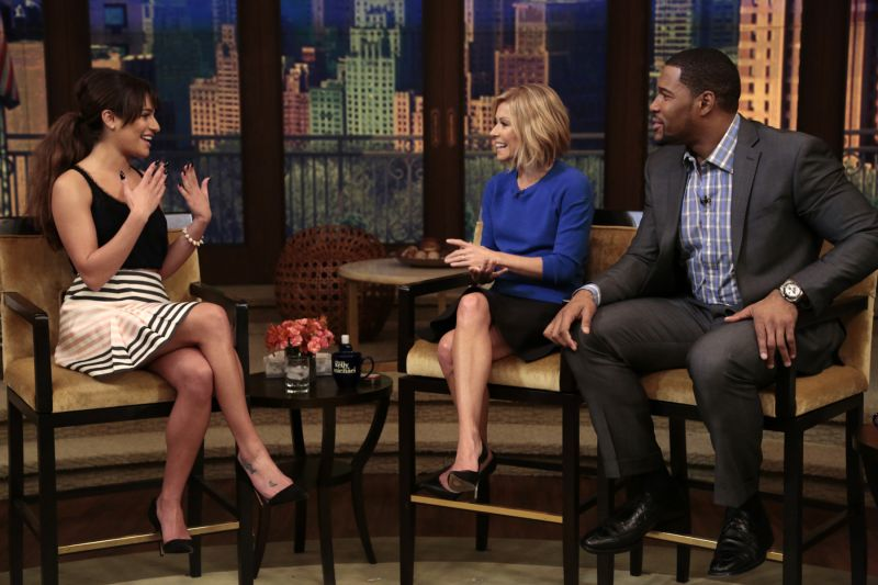 PHOTO: Lea Michele Visits LIVE WITH KELLY & MICHAEL