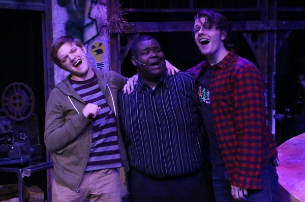 Jeremy Hyatt (as Mark), Marshall Jennings (Collins), and Evan Fornachon (Roger) Photo
