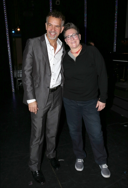 k.d. lang backstage with Brian Stokes Mitchell