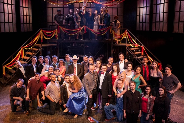 Photo Flash: Jeremy Kushnier & Catherine Cox Visit Cast of Marymount Manhattan College's FOOTLOOSE