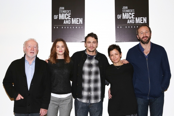 Photo Coverage: James Franco, Chris O'Dowd and OF MICE AND MEN Company Meet the Press!