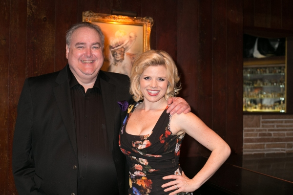 42nd Street Moon Artistic Director Greg MacKellan with Megan Hilty
