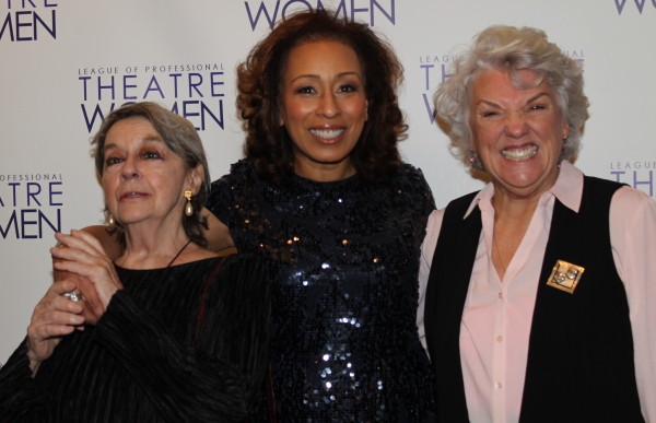 Zoe Caldwell, Tamara Tunie and Tyne Daly