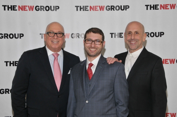 Serge Nivelle, Chairman of the Board of Directors at The New Group, with Executive Director Adam Bernstein and Artistic Director Scott Elliott