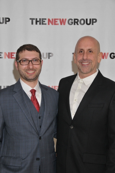 Adam Bernstein, Executive Director of The New Group, with Artistic Director Scott Elliott