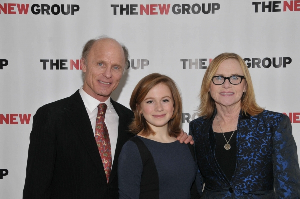 Ed Harris, Juliet Brett and Amy Madigan