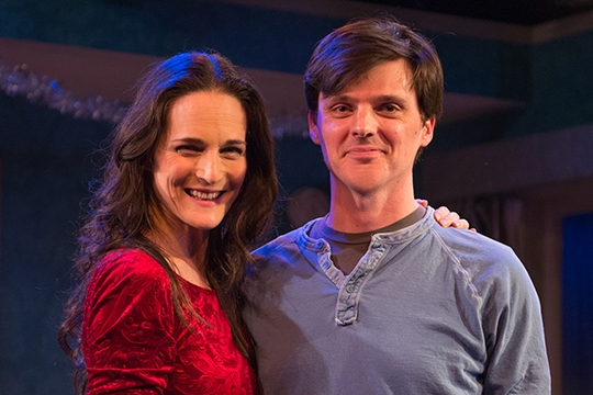 Charlotte Cohn (left)  and playwright Jason Odell Williams (right)