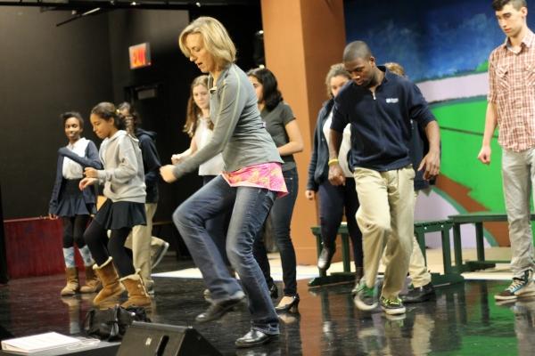 Photo Flash: Paula Leggett Chase Helps Leman Manhattan Prep Students Rehearse for DAMN YANKEES