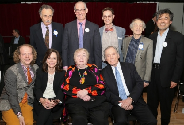 Top Row (Left to Right): Arthur Kopit, John Clinton Eisner (Lark Artistic Director), Michael Robertson (Lark Managing Director), Colin Greer (Lark Board President), David Henry Hwang; Bottom Row (Left to Right): Bruce Cohen, Sally Field, Elizabeth McCann,