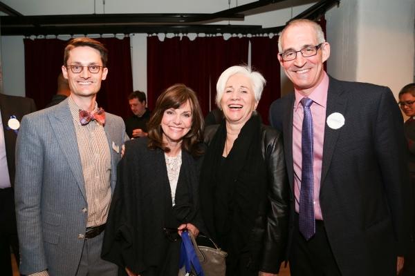 Michael Robertson (Lark Managing Director), Sally Field, Olympia Dukakis, John Clinton Eisner (Lark Artistic Director)