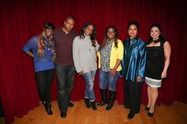 Nyahale Allie, Morocco Omari, Kamilah Forbes, Katori Hall, Phylicia Rashad and Maria-Christina Oliveras