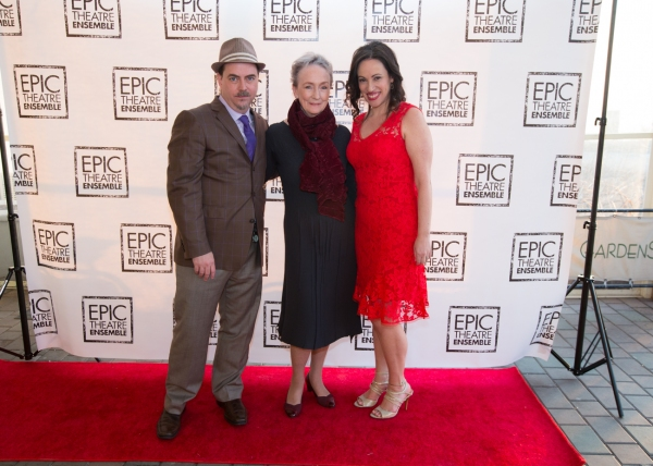 Director Ron Russell and Epic Artistic Director Melissa Friedman with Actress Kathleen Chalfant