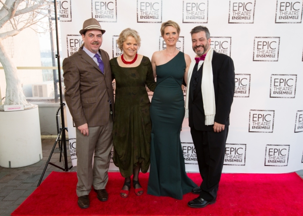 Epic Executive Director Ron Russell, Actress Ellen McLaughlin, Actress Cynthia Nixon, and Epic Managing Director Robert Chelimsky