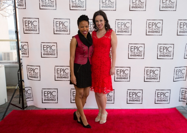 Actress and Playwright Nilaja Sun with Epic Artistic Director Melissa Friedman