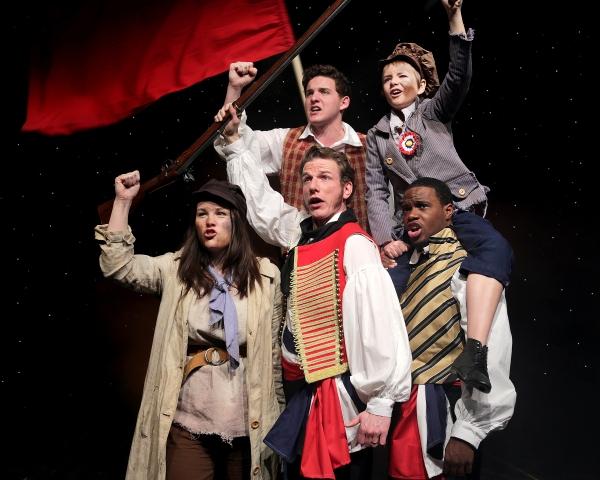 Dani Boal (Eponine), Jack Parisee (Feuily), Peter Erickson (Gavroche), Ken-Matt Marti Photo