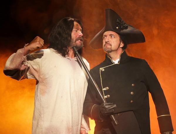 Steve Berry (Jean Valjean) and Maxwell Schaeffer (Javert)