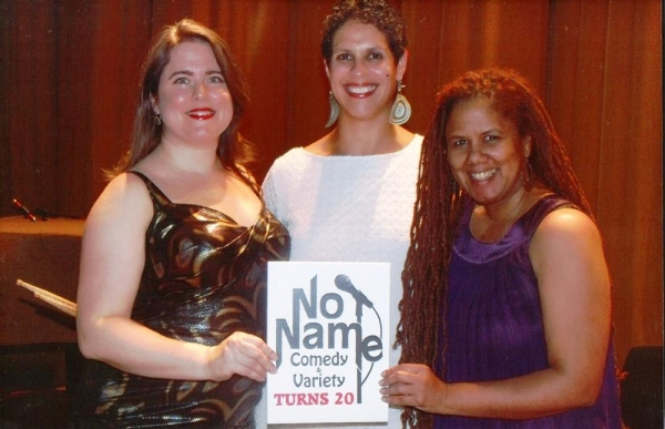 Vocalists Amanda Baker,  Alex DeSuze and Carla Lynne Hall performed with No Name house band The Summer Replacements at  No Name Comedy Variety ''s 20th anniversary celebration at the United Palace.