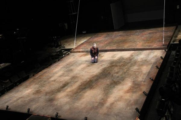 Christopher McCann as Gloucester on the set by Riccardo Hernandez
