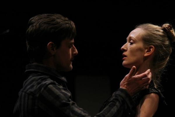Mark H. Dold (Oswald) and Rachel Pickup (Regan)