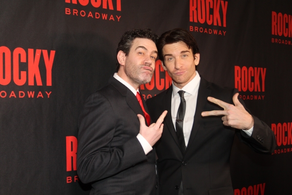 Kevin Del Aguila and Andy Karl Photo
