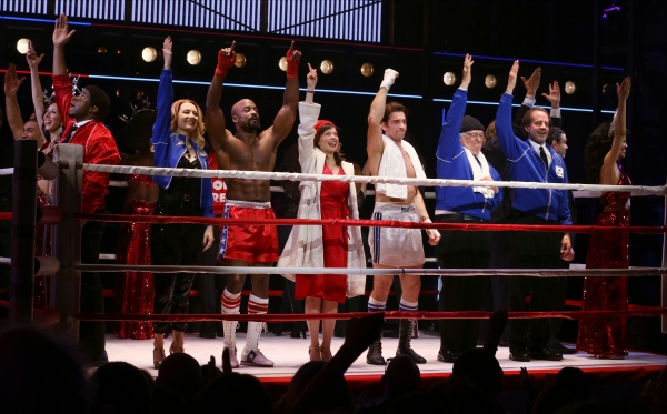 Jennifer Mudge, Terence Archie, Margo Seibert, Andy Karl, Dakin Matthews, Danny Mastrogiorgio and cast