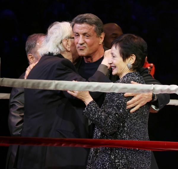Thomas Meehan, Lynn Ahrens and Sylvester Stallone