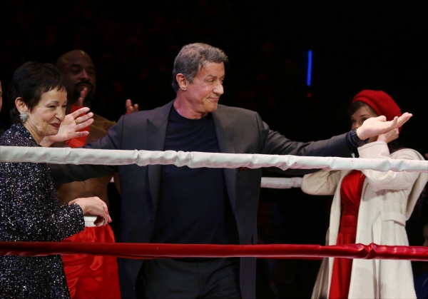 Lynn Ahrens, Terence Archie, Sylvester Stallone and Margo Seibert