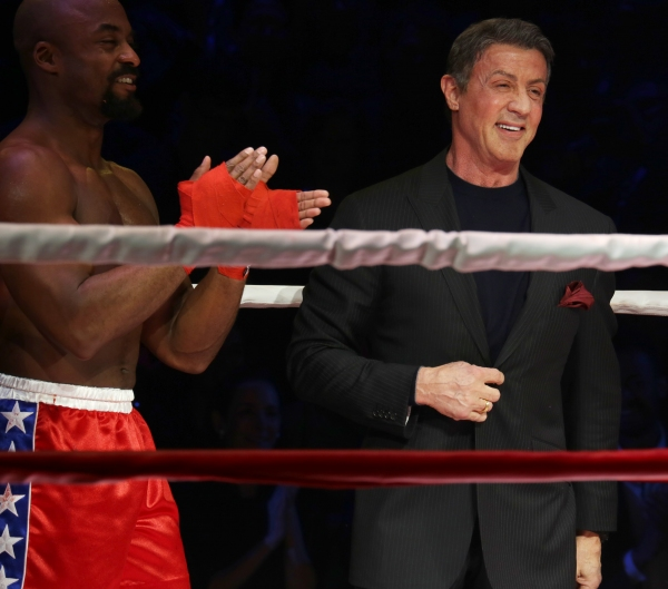 Terence Archie and Sylvester Stallone