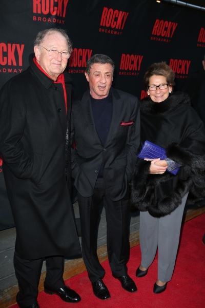 Producer Joop Van Den Ende, Sylvester Stallone and Janine Van Den Ende