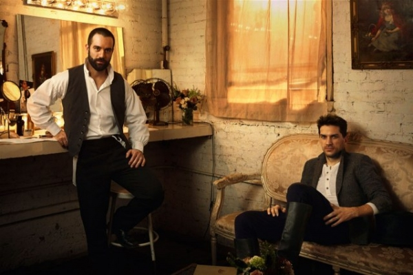 Photo Flash: LES MISERABLES's Karimloo and Swenson Pose for Vanity Fair
