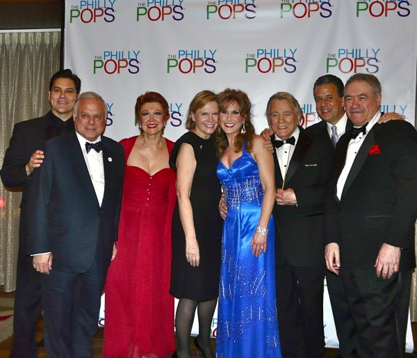 Doug LaBrecque, Philly POPS President Frank Giordano, Terre Blair Hamlisch, Jodi Benson, Don Pippin, presented John Such, guest conductor Lawrence Blank