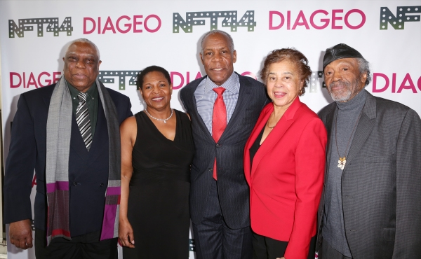 Woodie King Jr., Valerie Graves, Danny Glover, Judge Laura Blacknurne and Otto Neals