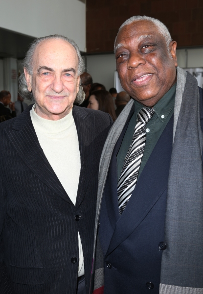 Playwright Lyle Kessler and Woodie King Jr.  Photo