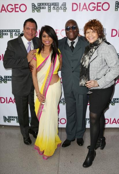 Ricardo Khan with fiancee, Voza Rivers and Trazana Beverly  Photo