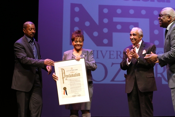 Robert Townsend, Inez Dickens, Charles Rangel and Voza Rivers