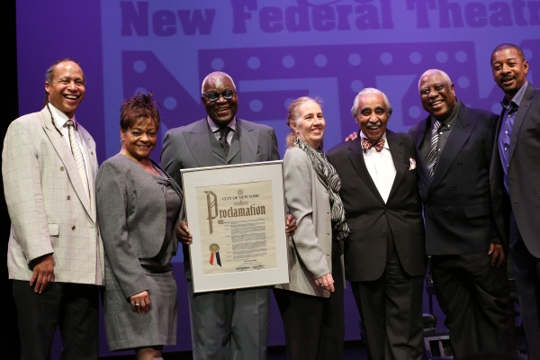 Jamal Joseph, Inez Dickens, Voza Rivers, Charles Rangel, Woodie King Jr. and Robert T Photo