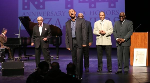 Charles Rangel, Robert Townsend, Woodie King Jr., Jamal Joseph and Voza Rivers Photo