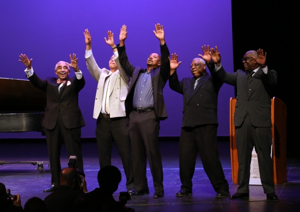Charles Rangel, Jamal Joseph, Robert Townsend, Woodie King Jr. and Voza Rivers Photo