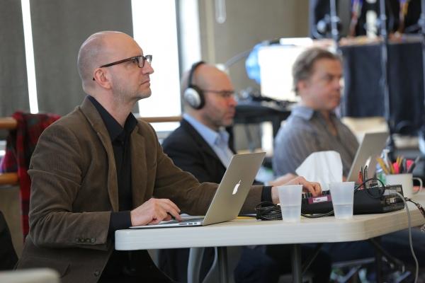 Steven Soderbergh, Scott Z. Burns, and Michael O'Keefe  Photo