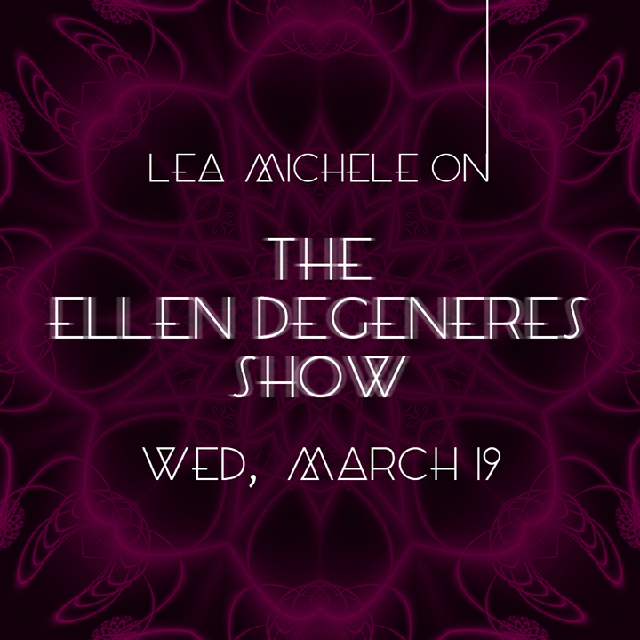 Lea Michele Set For THE ELLEN DEGENERES SHOW Today